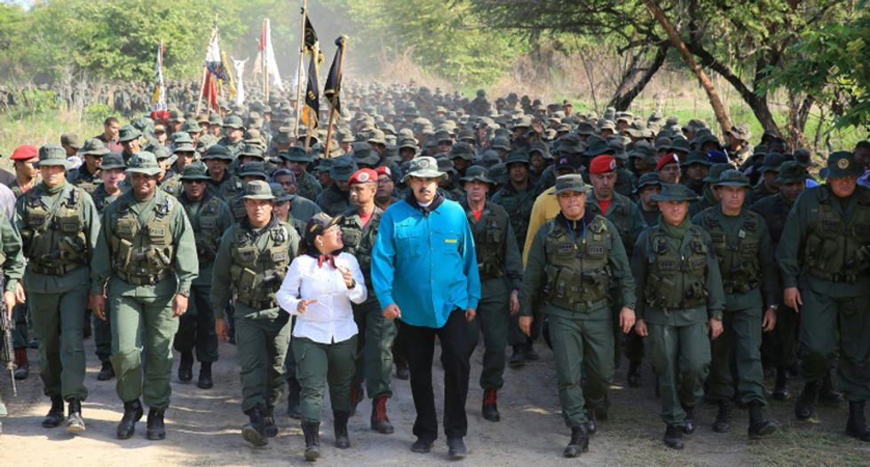 Venezuela's Maduro warns his troops to be 'ready' for US military action