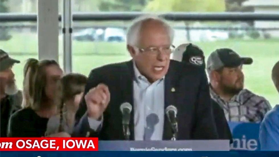 Bernie Sanders shouts down protester in Iowa: 'I've got the mic and I'm louder than you'
