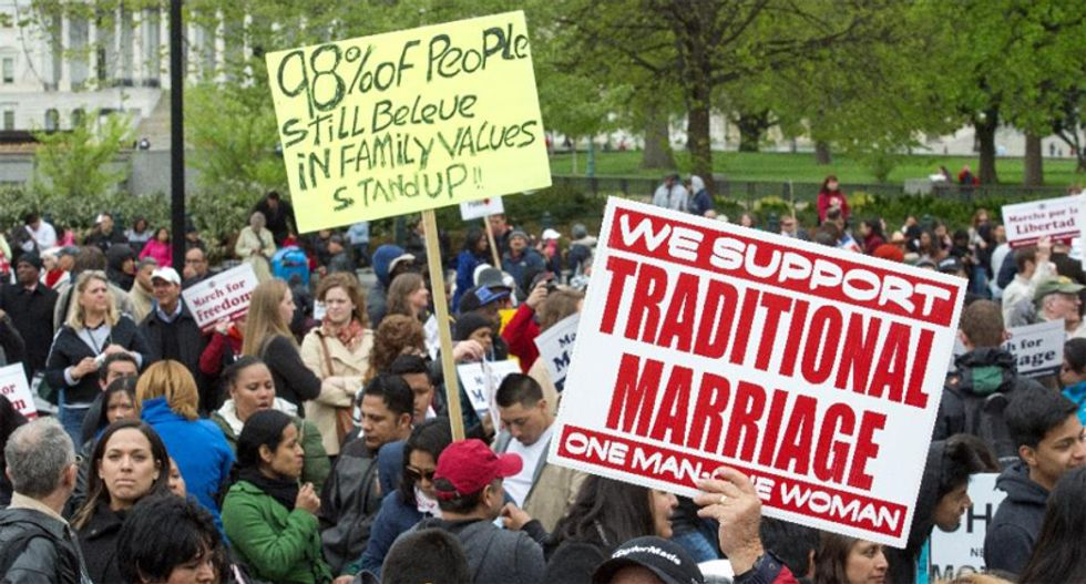 Thousands march in Washington D.C. against same-sex marriage