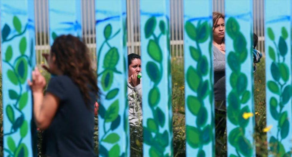 Short but sweet: Divided Mexican families reunite at US border