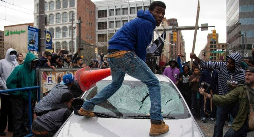 Baltimore rioter turned himself in -- but family can't afford $500,000 bail