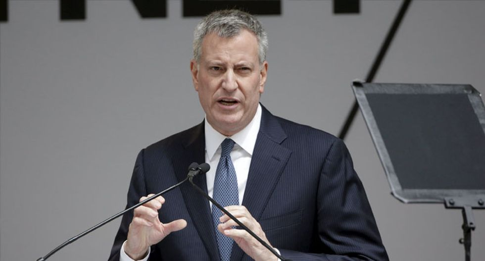 New York mayor refutes allegations that police adopting tougher strategy for protests