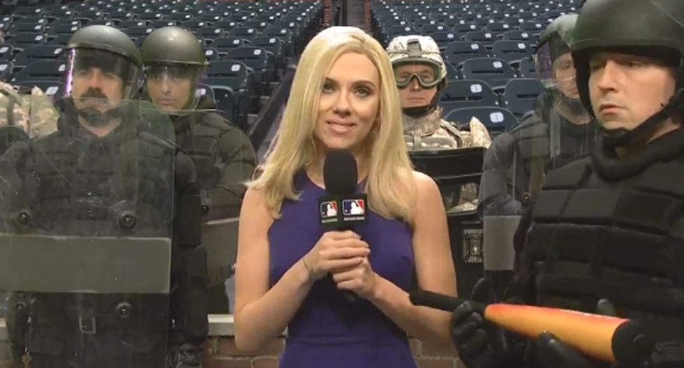 Watch SNL's Baltimore Orioles broadcasters make painful attempt at calling game as riots rage outside