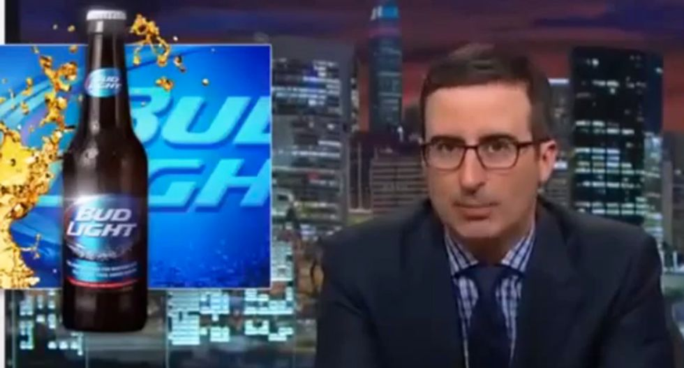 John Oliver mocks Bud Light's 'rapey' ad campaign: 'If a nickel could urinate, it would taste like a Bud Light'