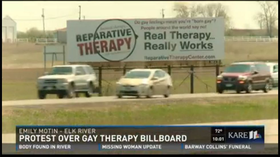 Minnesota teens slam 'gay conversion' billboard that claims ex-gay therapy 'really works'