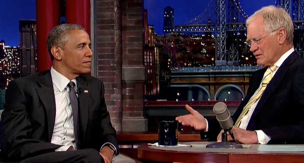 Obama discusses Baltimore on last David Letterman appearance: Many blacks don't trust the cops