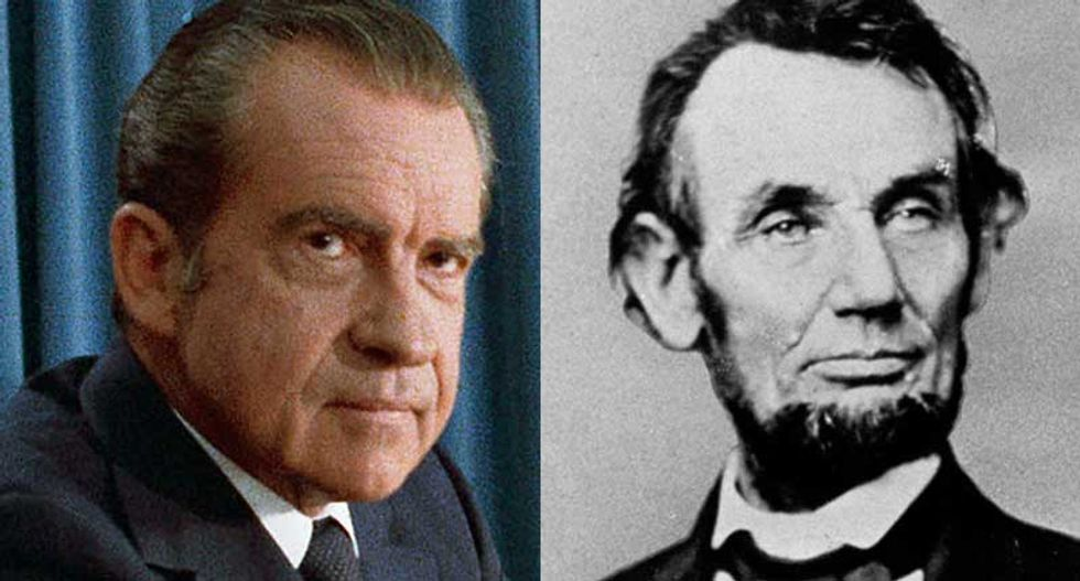 Were Lincoln and Nixon gay? The 'history' book that is dividing America