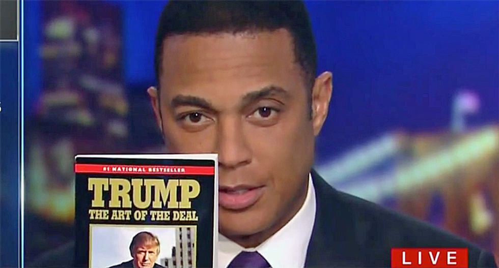'A con and a fraud': CNN's Don Lemon reads from 'Art of the Deal' to explain Trump's tax grift