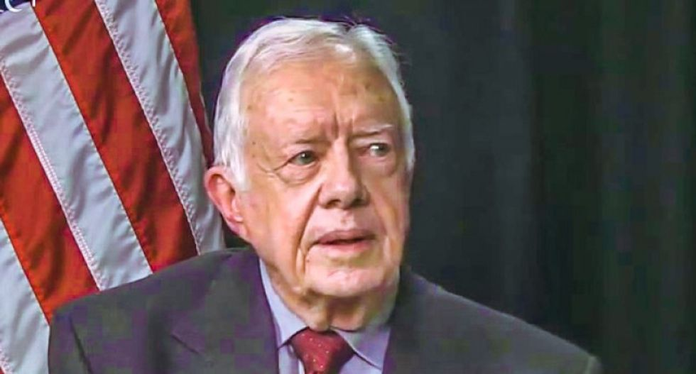 President Jimmy Carter slams America as 'an oligarchy with unlimited political bribery'