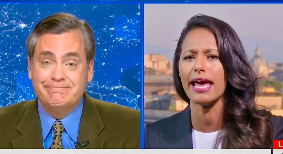 'This is about white supremacists': Rula Jebreal erupts at Jonathan Turley for defending Trump's ban
