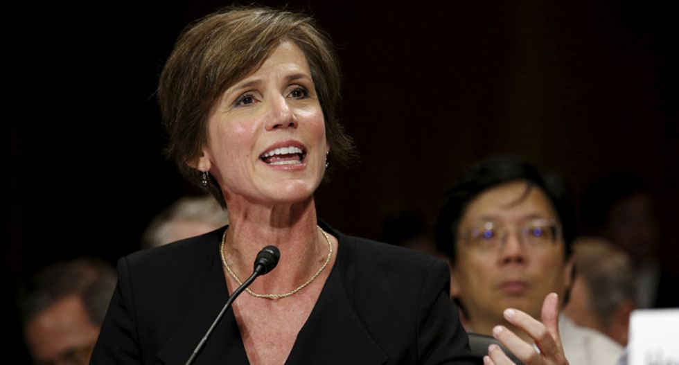 Trump fires acting AG Sally Yates for refusing to back travel ban