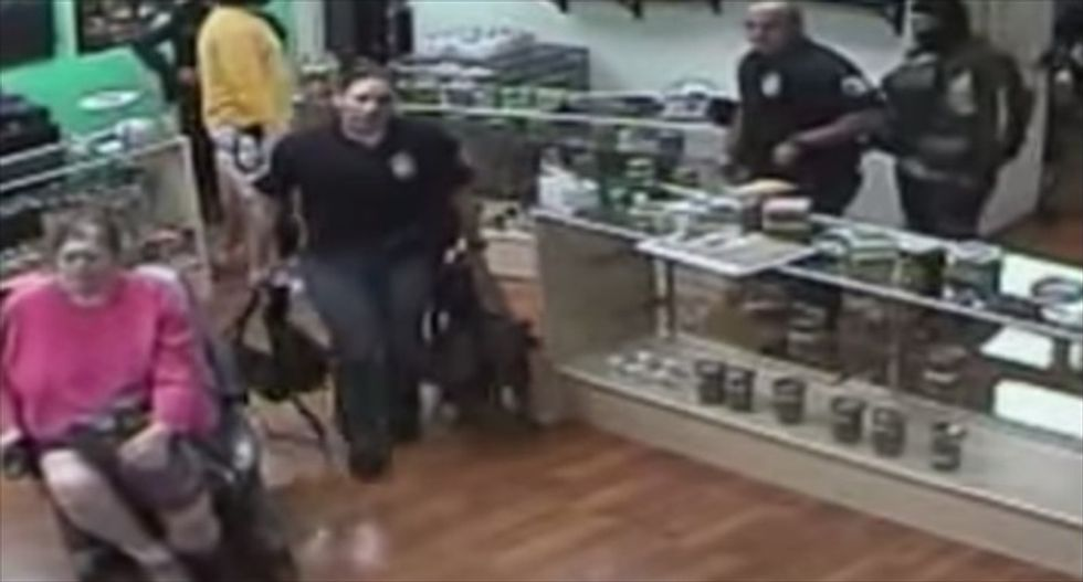 Calif. cop caught on video joking about kicking amputee activist 'in the f*cking nub'