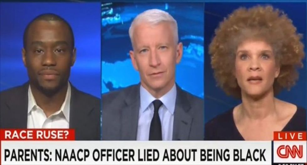 Anderson Cooper and guests rip Rachel Dolezal for passing herself off as black: 'The height of arrogance'