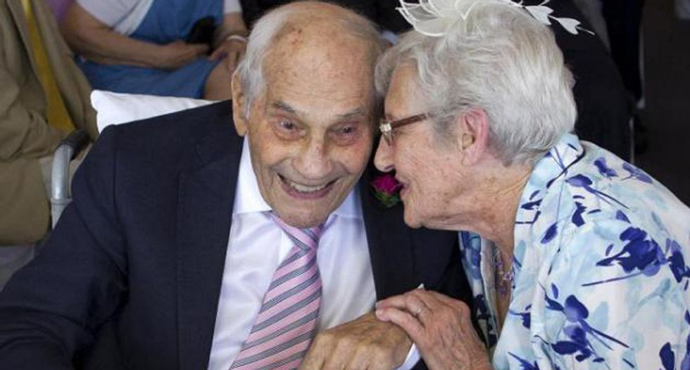 103-year-old man and a 91-year-old woman become the world's oldest newlyweds