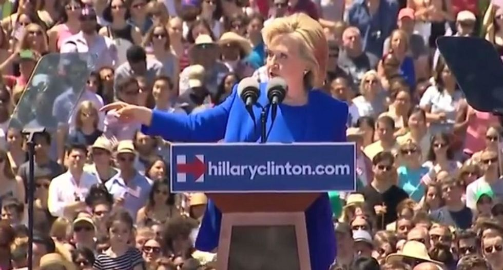 Hillary Clinton kicks off campaign: 'I will be the youngest woman President in the history of the United States!'