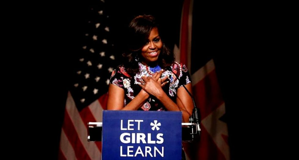 Michelle Obama champions $200 million plan to educate girls in 'fragile' countries