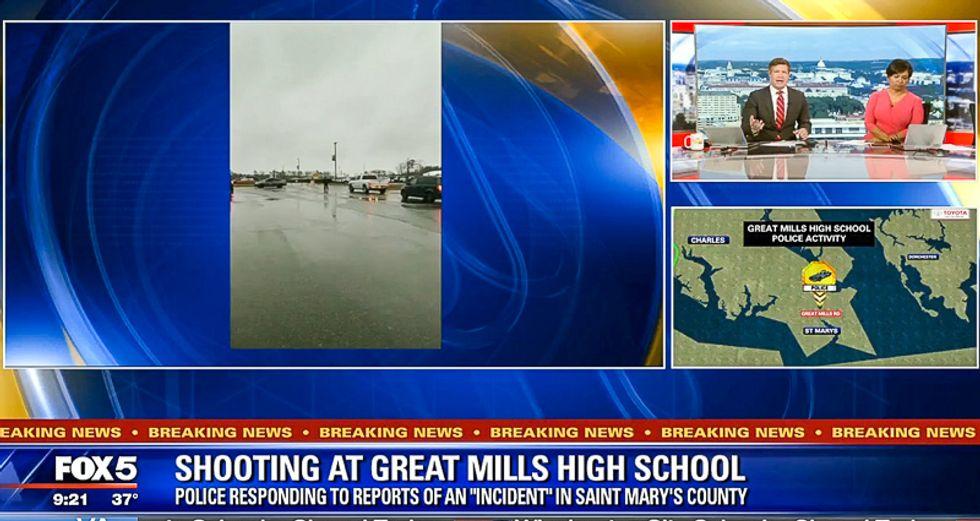 Local Fox anchor cuts off Great Mills High School survivor as soon as she mentions 'gun control'