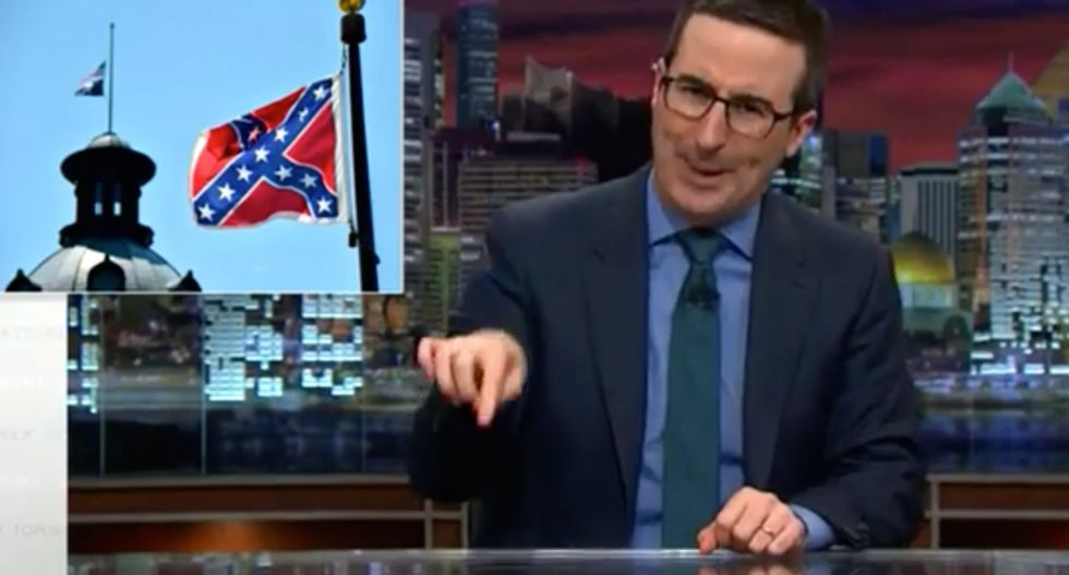 Watch: John Oliver has a suggestion for South Carolina's Confederate flag -- and it's perfect
