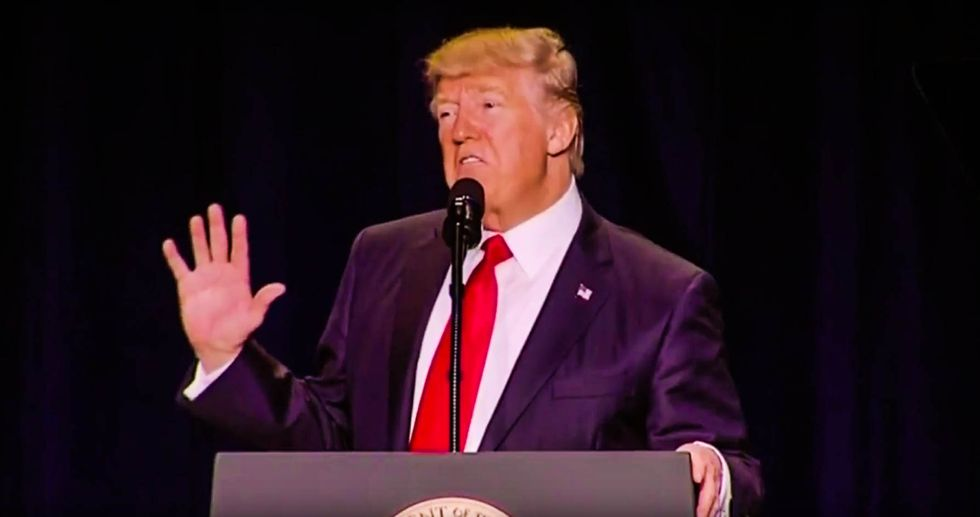 'He's mentally ill': Internet aghast after Trump brags about 'Apprentice' ratings at Prayer Breakfast