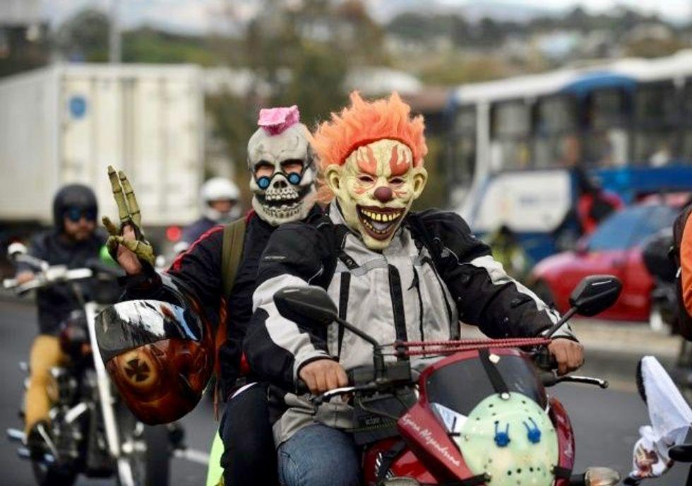 Motorcycle pilgrims pay homage to Guatemala's 'Black Christ'