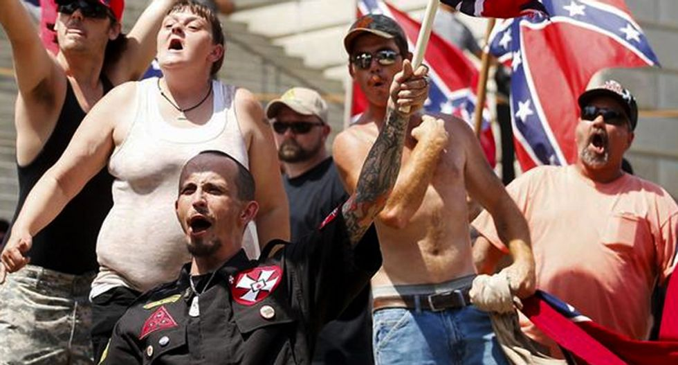 Race to the bottom: These two photos illustrate perfectly how ugly and pathetic white supremacists are
