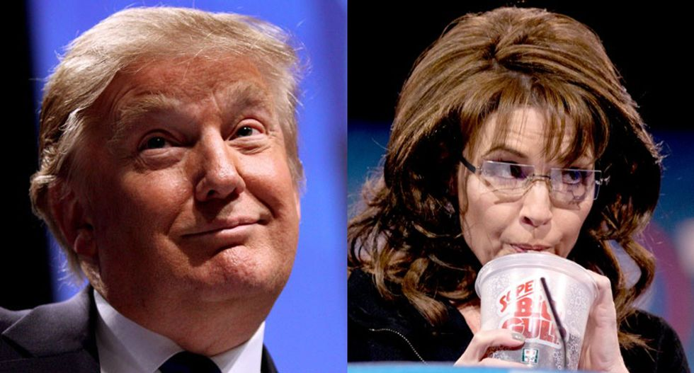 Sarah Palin is interviewing Donald Trump tonight. Will he pop the question and make her his veep?