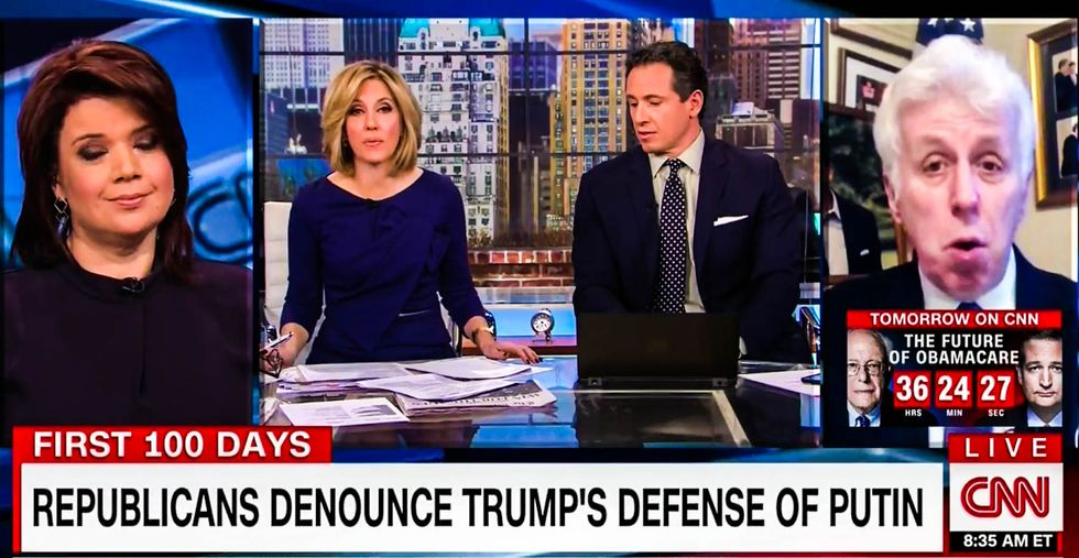 WATCH: Jeffrey Lord reduced to defending Fidel Castro to justify Trump's 'killers' remark