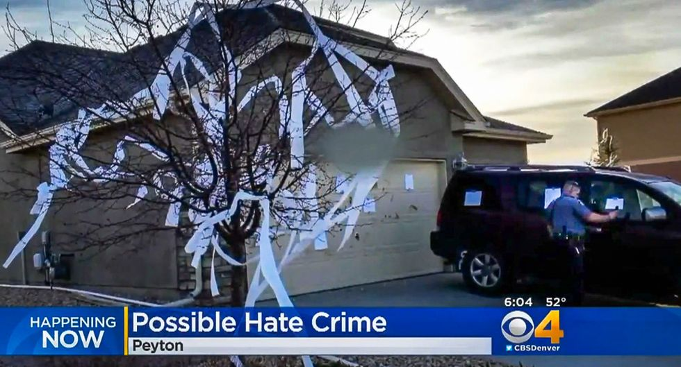 Colorado vandals attack Indian man's home with dog poop and 50 messages of hate