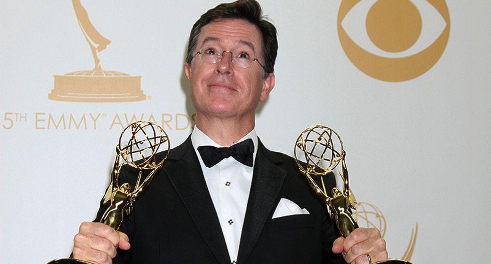 Stephen Colbert hosts the 2017 Emmy Awards