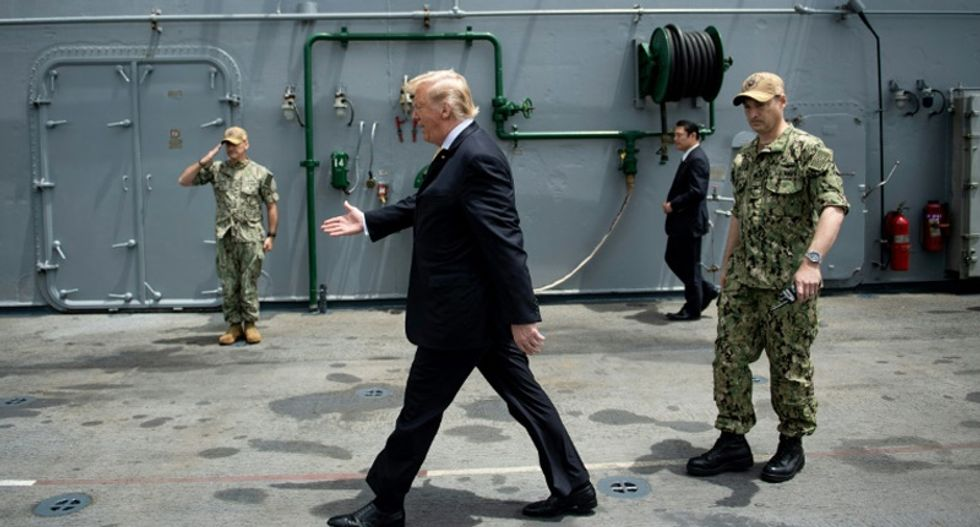 Pentagon confirms White House was behind push to hide USS John McCain from Trump