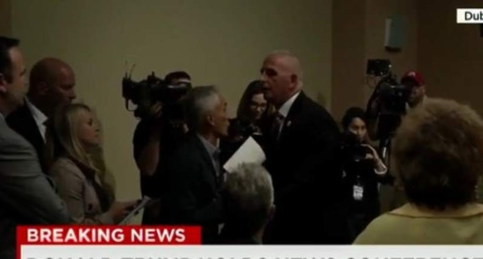 WATCH: Fusion anchor Jorge Ramos pushed out of Donald Trump press conference