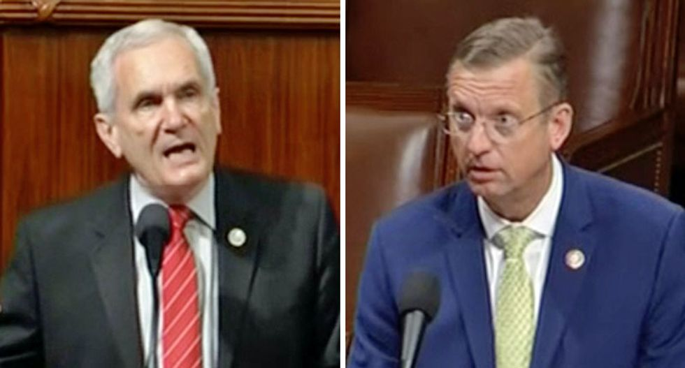 Watch a Republican bellyache on the floor of Congress after a Democrat criticized Trump for a 'racist rant'