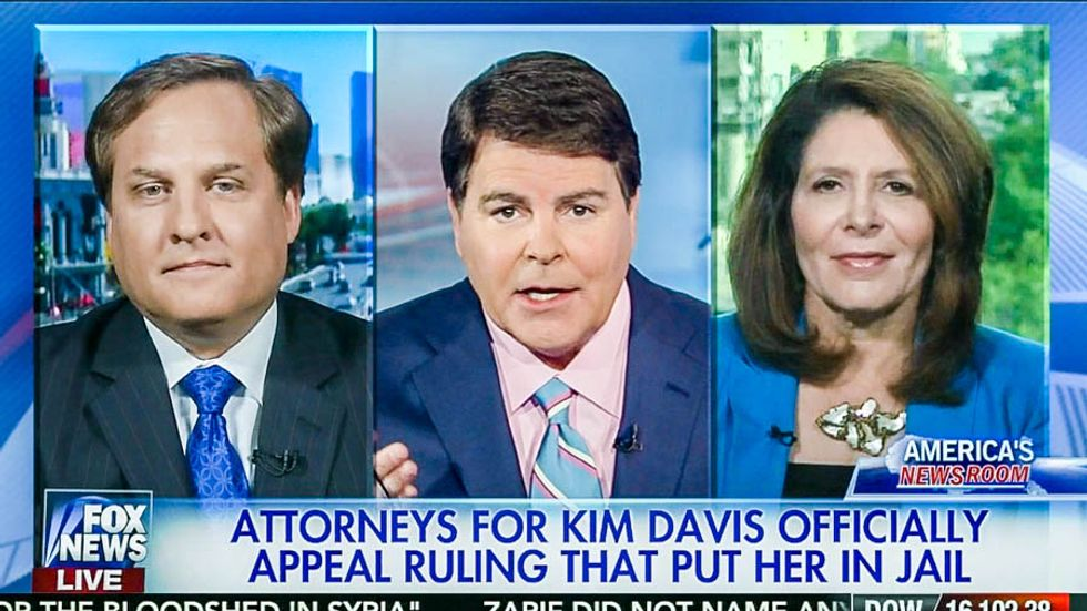 Fox News panel concludes that Kim Davis' lawyer is 'ridiculously stupid'