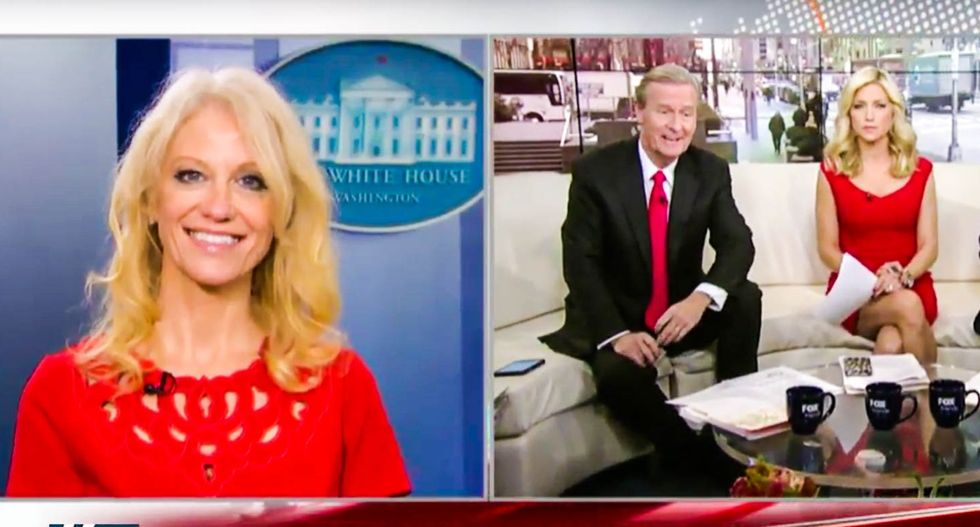 Kellyanne Conway thanks Fox News for blaming Flynn debacle on leakers who exposed Russia calls