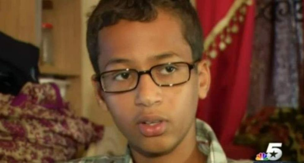 Texas Muslim teen arrested because teacher thought homemade clock was 'hoax bomb'