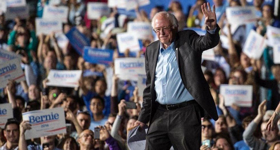 After a night of sweeping victories, Bernie is back