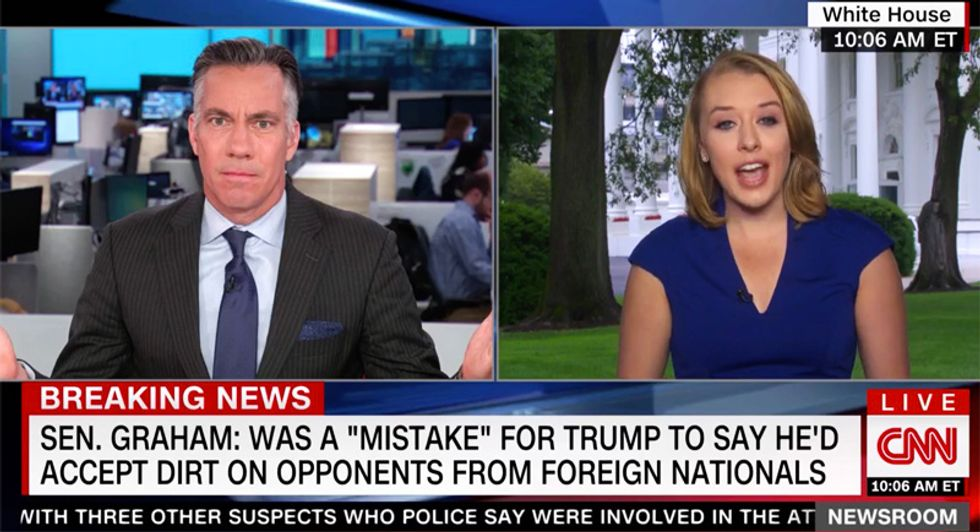CNN host throws up his hands in exasperation after Trump claims ABC comments were edited to make him look bad