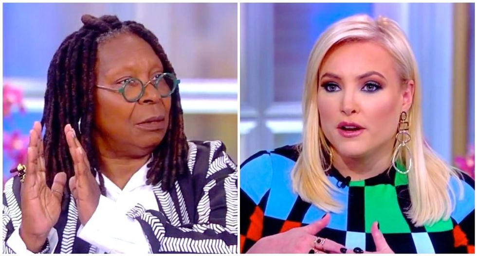 Whoopi Goldberg freaks out Meghan McCain with warning about a Trump 'coup'