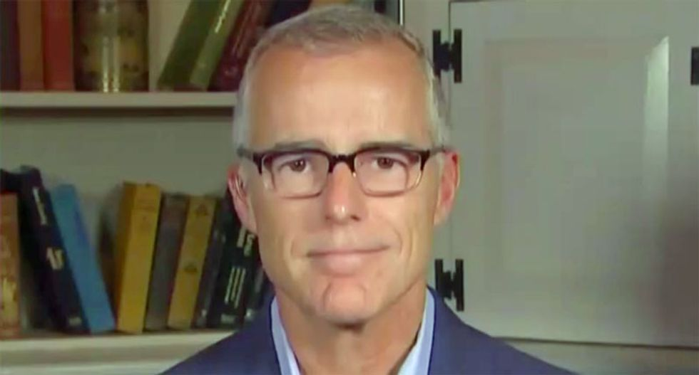 Andrew McCabe smiles and says he 'will not miss' Sarah Huckabee Sanders after she lied about the FBI from the podium