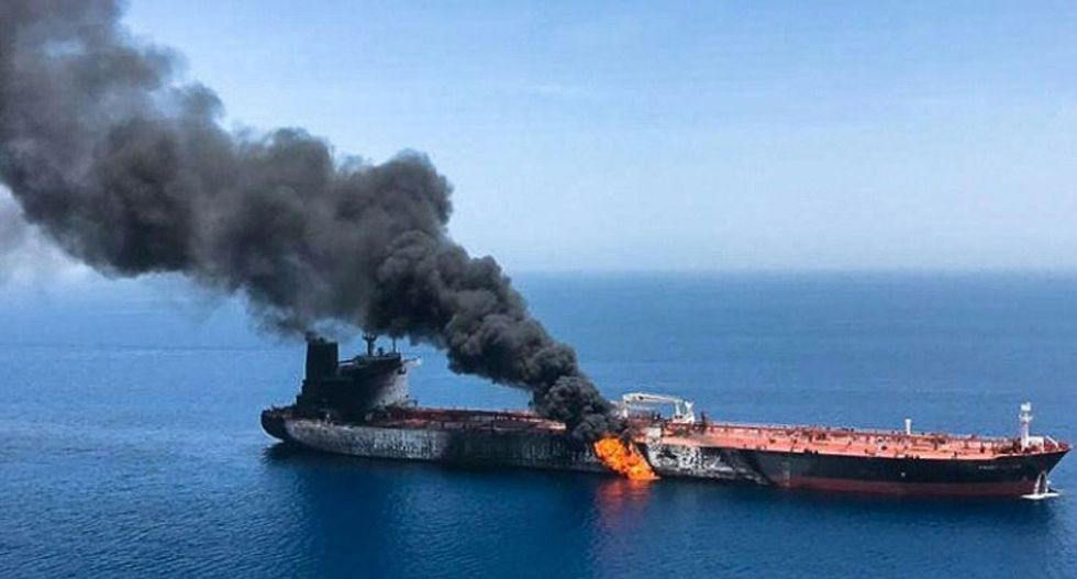 Tensions surge in the Middle East as US accuses Iran of attacking tankers in the Gulf of Oman
