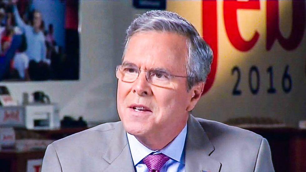 Fox host corners Bush for giving tax cuts to the 1%: 'Does Jeb Bush need a $3 million tax cut?'