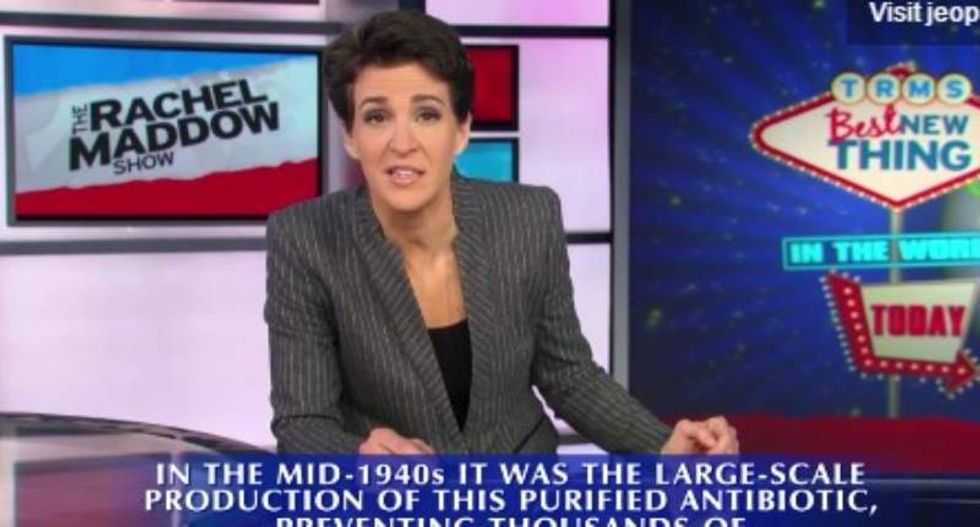 Rachel Maddow's own category is the 'Best New Thing' on 'Jeopardy'