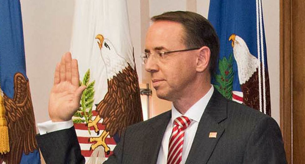 Rod Rosenstein will resign the Justice Department in mid-march