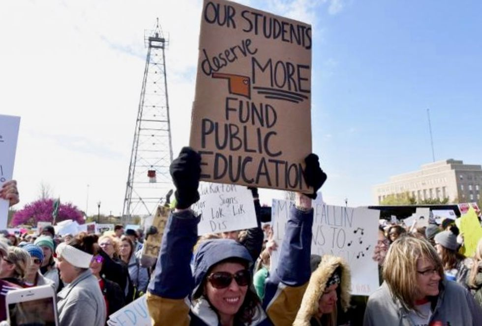 Striking Oklahoma teachers push for more funds, Republicans say done