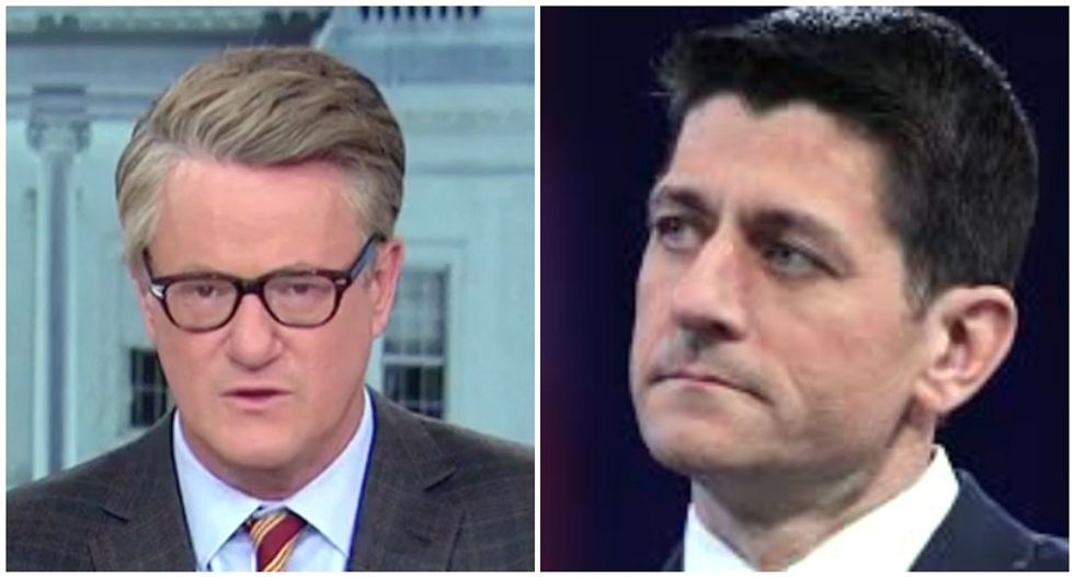 MSNBC's Morning Joe throws a truthbomb: 'Paul Ryan won't tell the truth about Trump because he wants big, fat paycheck'