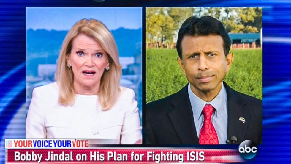 ABC host destroys Bobby Jindal's 'no-fly zone' plan with four simple words: 'ISIS doesn't have aircraft'