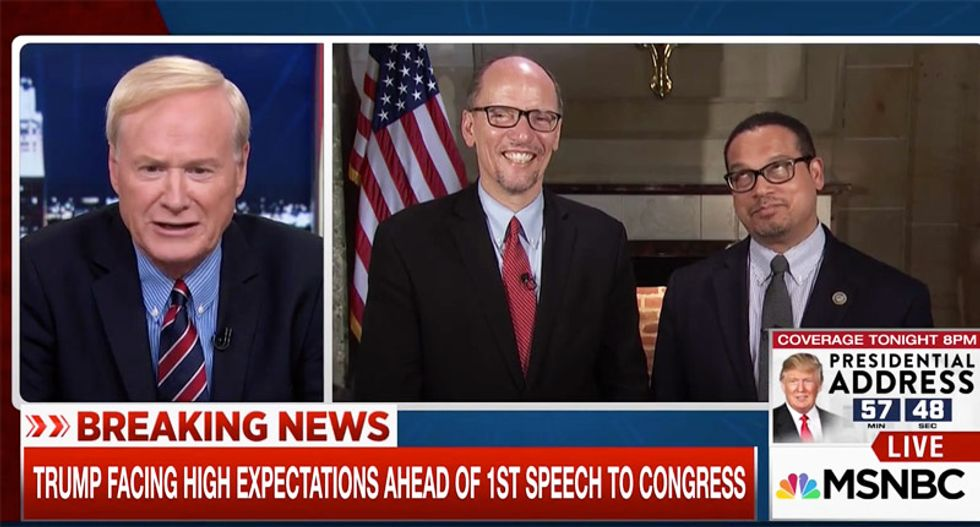 Perez and Ellison jab Trump: 'A guy getting help from the Russians' can't call DNC election rigged