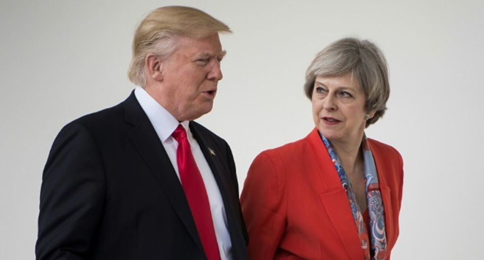 Trump quickly faceplants during state visit to the UK -- and things aren't going to get better