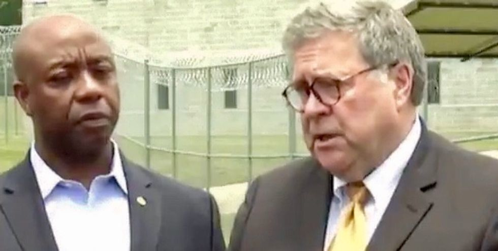 Prominent progressive pastor blasts GOP senator who is a 'descendent of slaves' for supporting Barr's Census stance