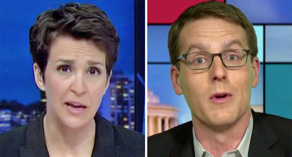 Maddow breaks down legal peril facing Trump for financial document lies: 'This isn't like lying about your hand size'